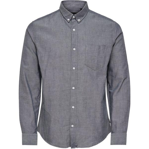 Only & Sons Solid Long Sleeved Shirt Blue/Dark Sapphire
