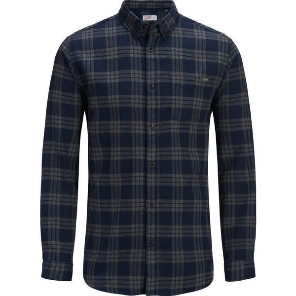 Jack & Jones Check Long Sleeved Shirt Blu/Navy Blazer