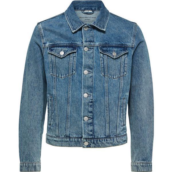 Selected Basic Denim Jacket Blue/Light Blue
