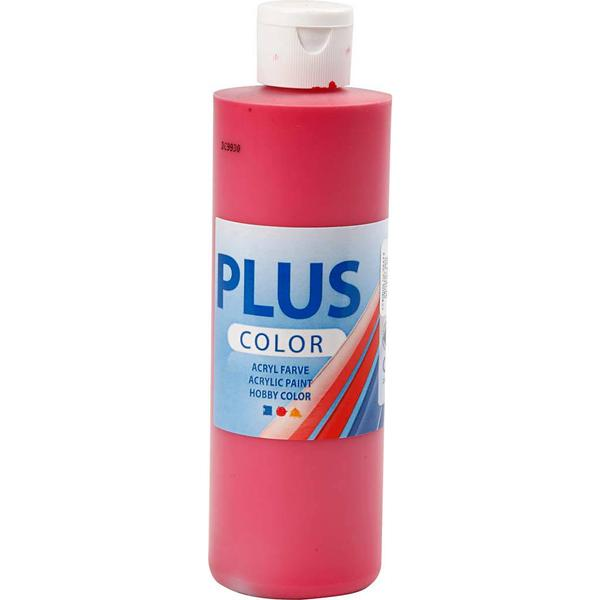 Plus Acrylic Paint Primary Red 250ml