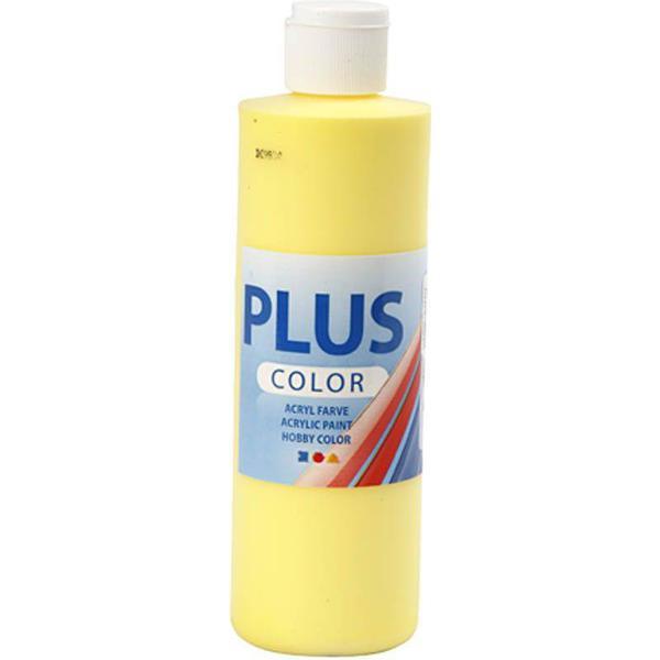 Plus Acrylic Paint Primary Yellow 250ml