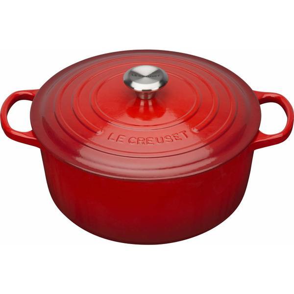 Le Creuset Cerise Signature Cast Iron Round Other Pots with lid 26cm