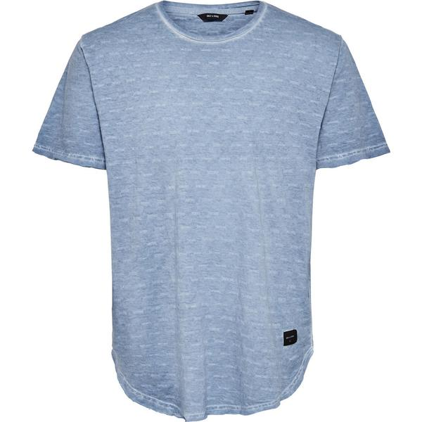Only & Sons Detailed T-shirt Blue/Copen Blue