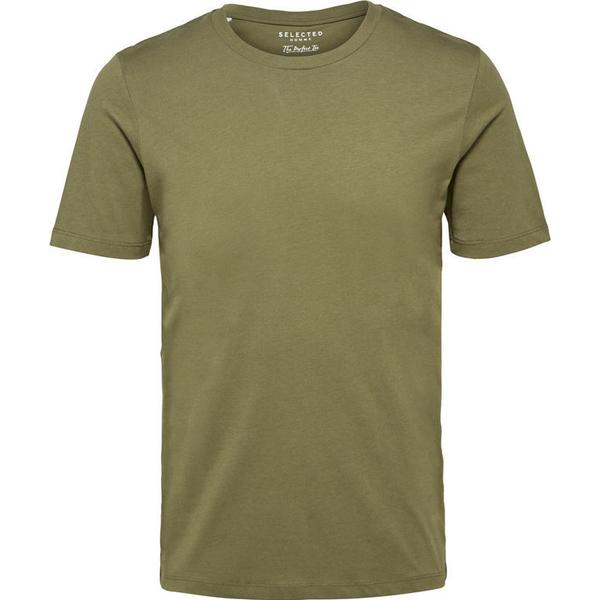 Selected O-Neck T-shirt Green/Dusty Olive