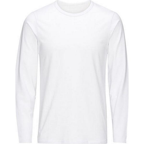 Jack & Jones Solid Long-sleeved T-shirt - White/White
