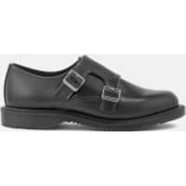 Dr. Martens Strap Women's Kensington Pandora Leather Double Monk Strap Martens Shoes - Black c24b07