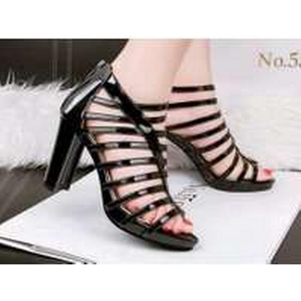 Bonanza (Global) PS392 dedicated caged Martin sandals, patent leather, Size black 4-8.5, black Size 906097