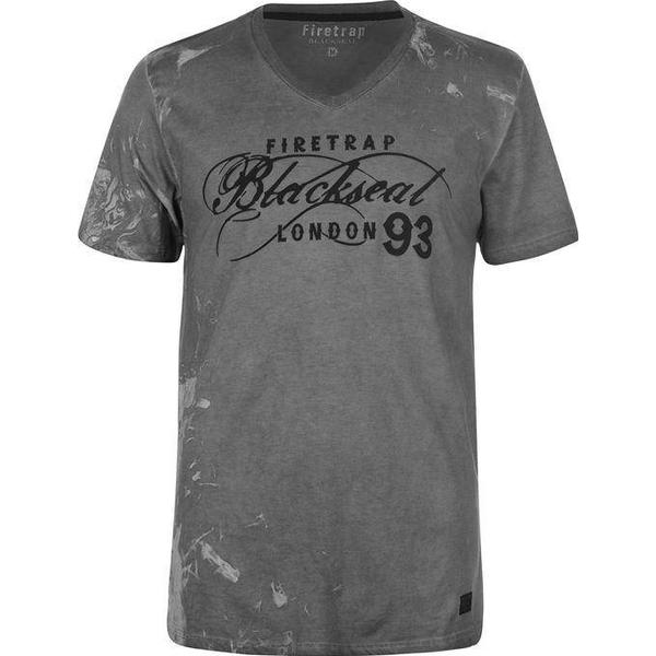 Firetrap Blackseal Smoke Skull T-shirt Charcoal
