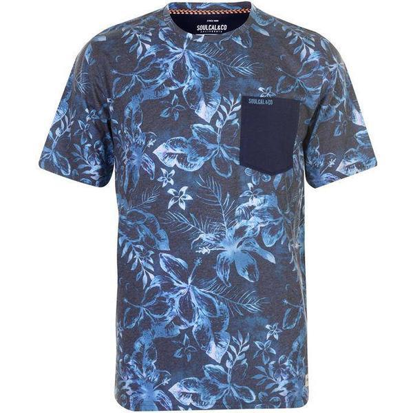 SoulCal AOP Pocket T-shirt - Navy Floral