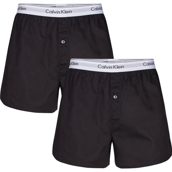 Calvin Klein Modern Cotton Slim Fit Boxers 2-pack - Black/Black