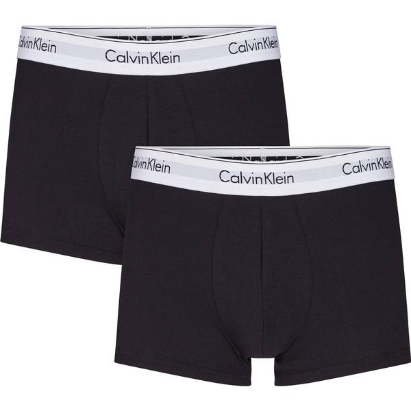 Calvin Klein Modern Cotton Trunks 2-pack Black
