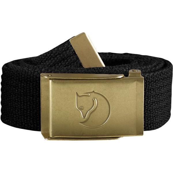 Fjällräven Canvas Brass Belt Unisex - Black