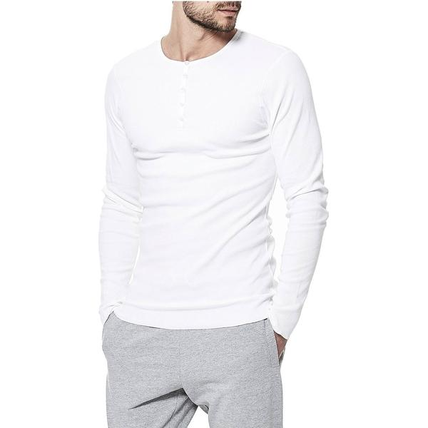 Bread and Boxers Henley T-shirt - White