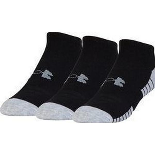 Under Armour HeatGear Tech No Show Socks 3-pack - Black
