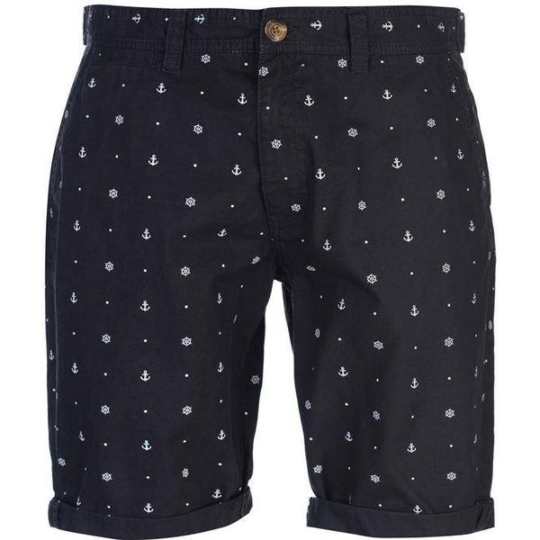 SoulCal Patterned Chino Shorts - Navy