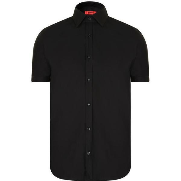 Hugo Boss Jennio Slim-Fit Short-Sleeved Shirt Black (50309303)