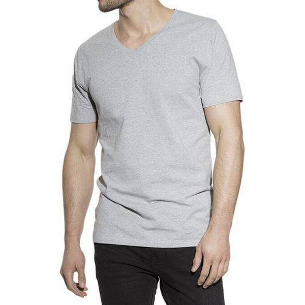 Bread and Boxers V-Neck T-shirt - Grey Melange