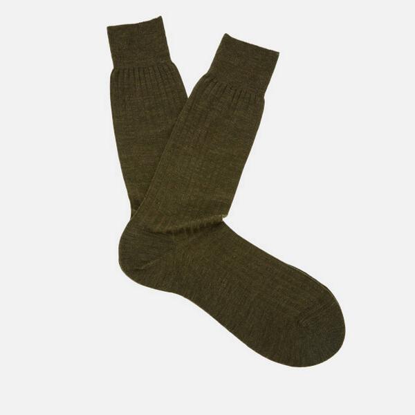 Pantherella Labernum Socks Dk Olive Mix