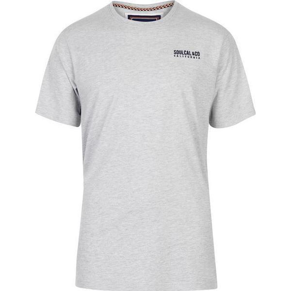 SoulCal Small Logo T-shirt Grey Marl