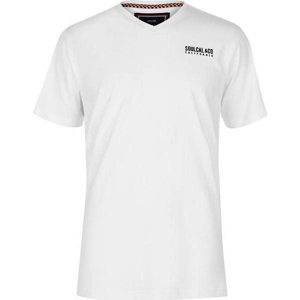 SoulCal Small Logo V Neck T-shirt White