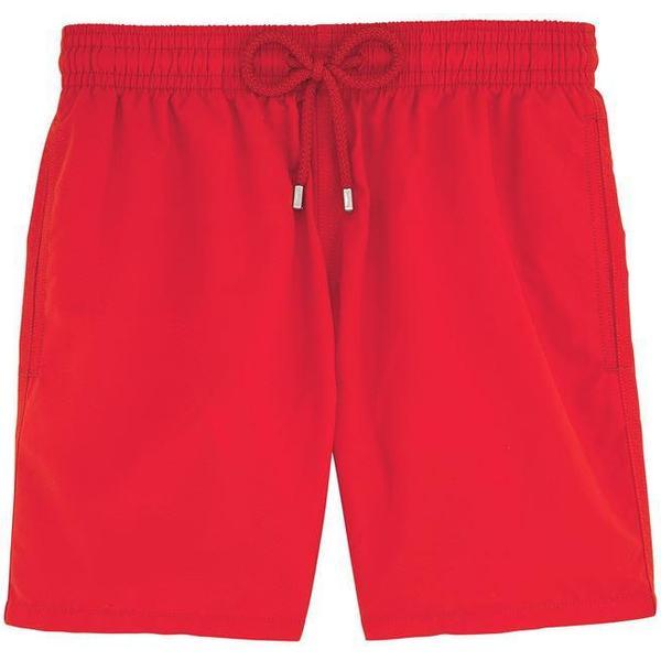 Vilebrequin Moorea Solid Swim Shorts Poppy Red