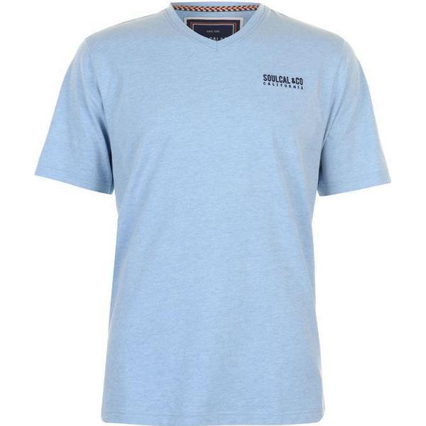 SoulCal Small Logo V Neck T-shirt Sky Marl