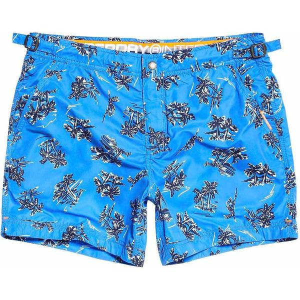 Superdry International Swim Shorts Deck Blue Palm Aop