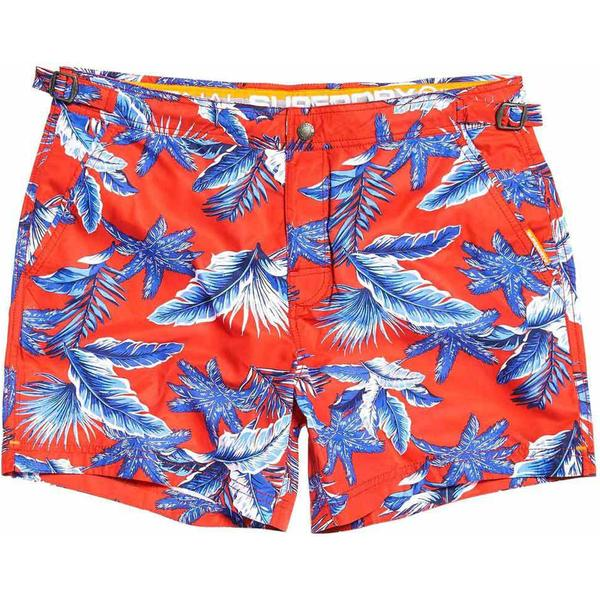 Superdry International Swim Shorts Yacht Club Red Aop