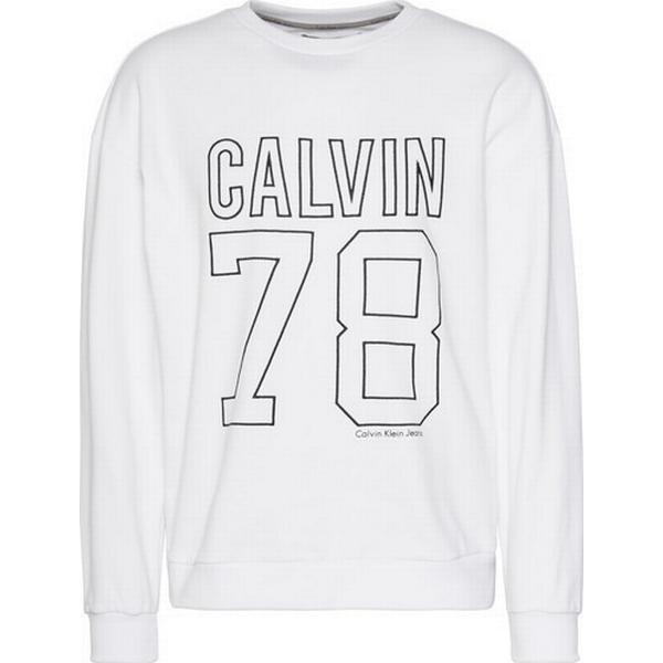 Calvin Klein Oversized Logo Sweatshirt Bright White