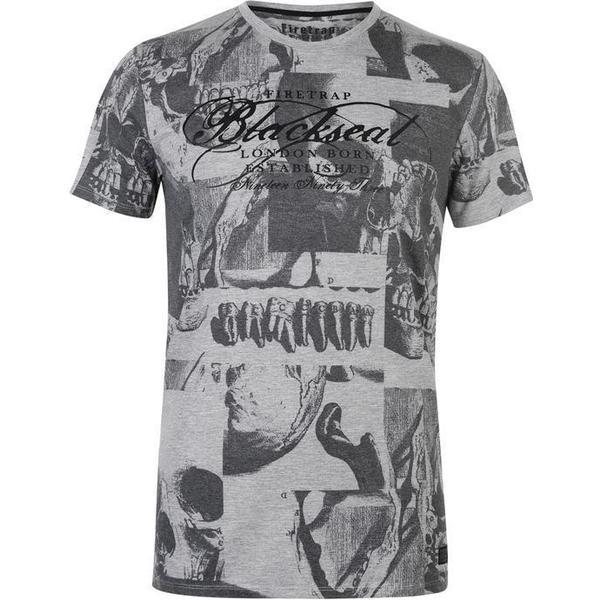 Firetrap Anatomy T S83 T-shirt White/Black