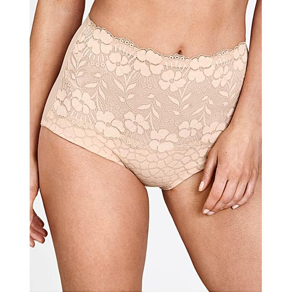 Miss Mary of Sweden Lovely Jaquard and Lace Panty Girlde Beige (4166)