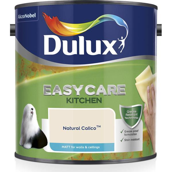 Dulux Easycare Kitchen Matt Wall Paint, Ceiling Paint Beige 2.5L