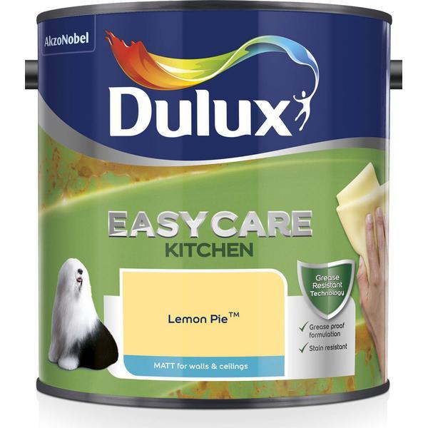 Dulux Easycare Kitchen Matt Wall Paint, Ceiling Paint Yellow 2.5L