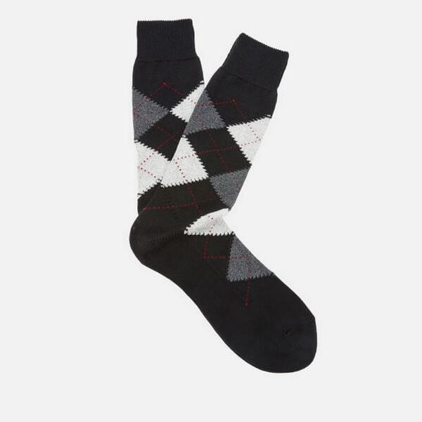 Pantherella Turnmill Argyle Socks - Black
