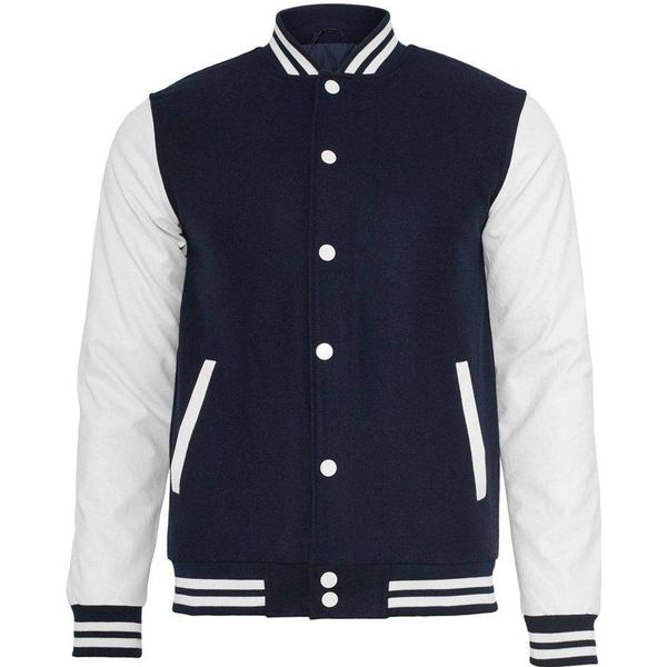 Urban Classics Oldschool College Jacket - Navy/White