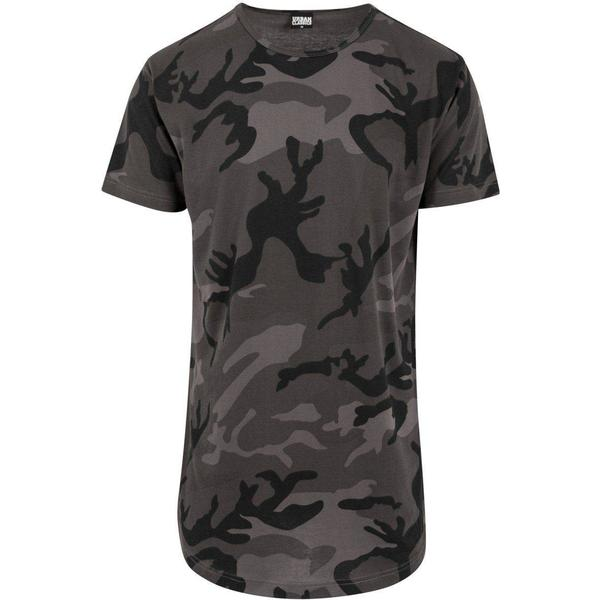 Urban Classics Camo Shaped Long Tee Dark Camo