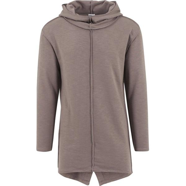 Urban Classics Long Slub Terry Open Edge Hoody - Taupe