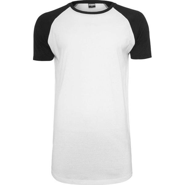Urban Classics Shaped Raglan Long Tee White/Black