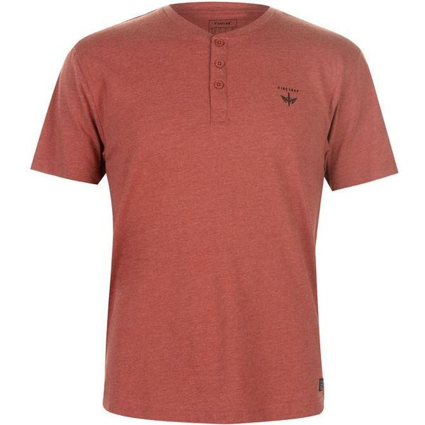 Firetrap Orbit T-shirt Red Orchre Marl