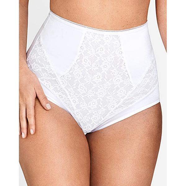 Miss Mary of Sweden Flowers Panty Girdle White (4523)