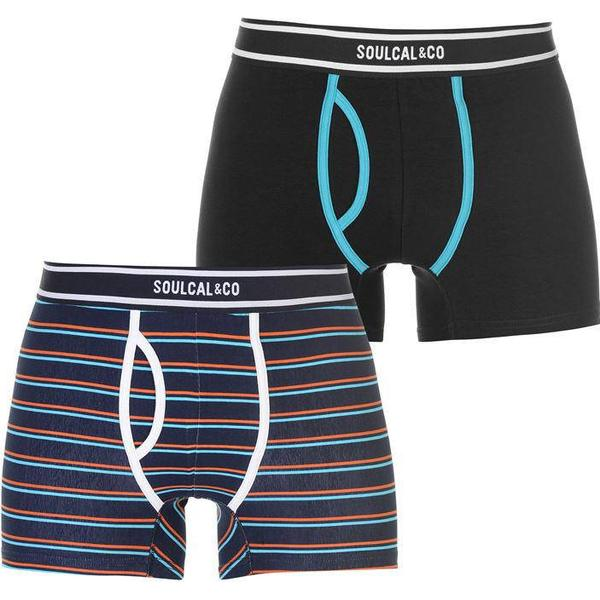 SoulCal Striped Boxers 2-pack - Navy/Blue