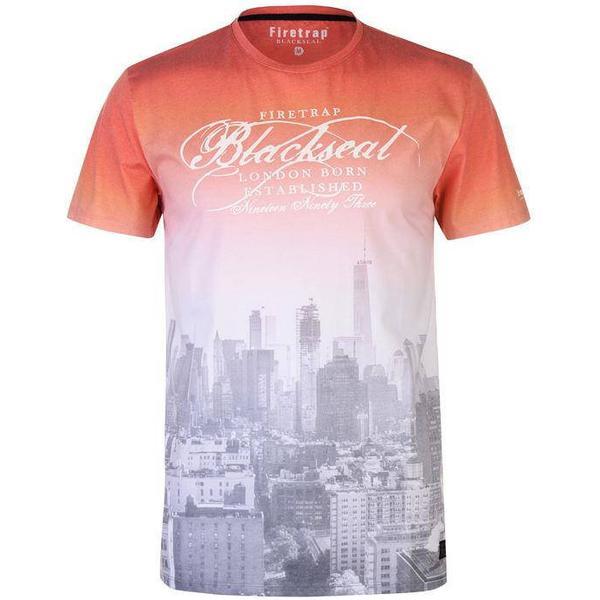 Firetrap Blackseal NYC T-shirt White/Orange