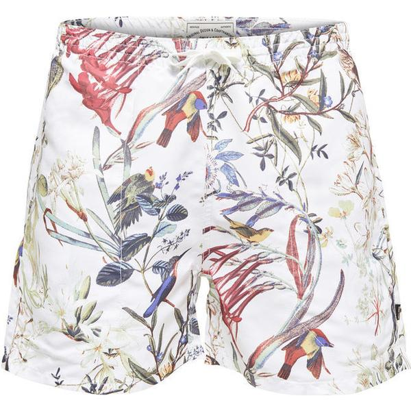 Only & Sons Printed Swim Shorts Bright White