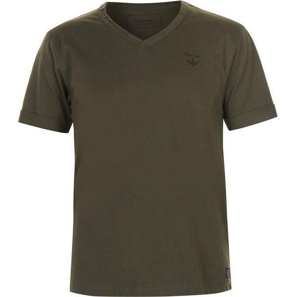 Firetrap Striding V Neck T-shirt Khaki