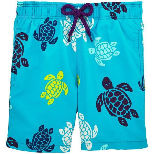 Vilebrequin Moorea Multicolor Turtles Swim Shorts Azzure