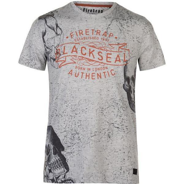 Firetrap Floral T-shirt Ecru Marl
