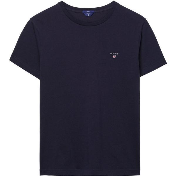 Gant Solid T-shirt Evening Blue