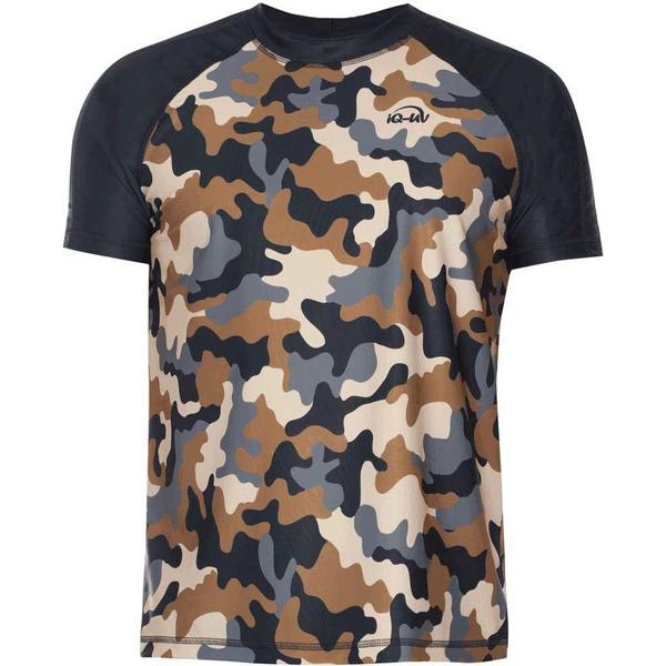 iQ-Company UV 230 Camo Loose Fit Short Sleeves Top M