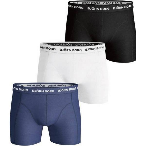 Björn Borg Solid Essential Shorts 3-pack - Blue Depths