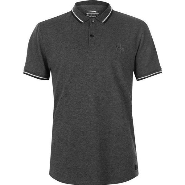 Firetrap Lazer Slim Fit Polo Shirt Charcoal Marl